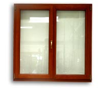 Okno dwuskrzydłowe ze słupkiem ruchomym